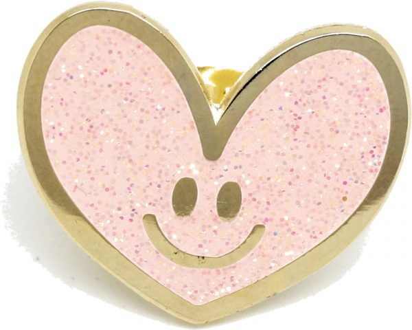 little elephant sweetheart pin roze