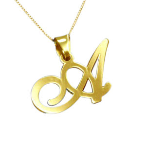 initial ketting gold