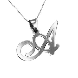 naamketting initial ketting letter zilver