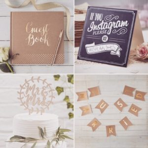 kraft decoratie wedding trouwfeest trouwerij instagram mr en mrs just married